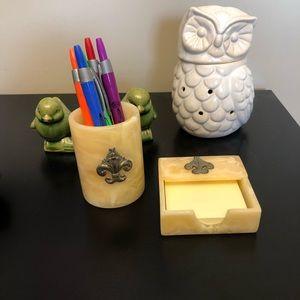 Other - Fleur de lis desk set